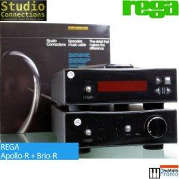 Rega Brio-R + Apollo-R + Cables RCA